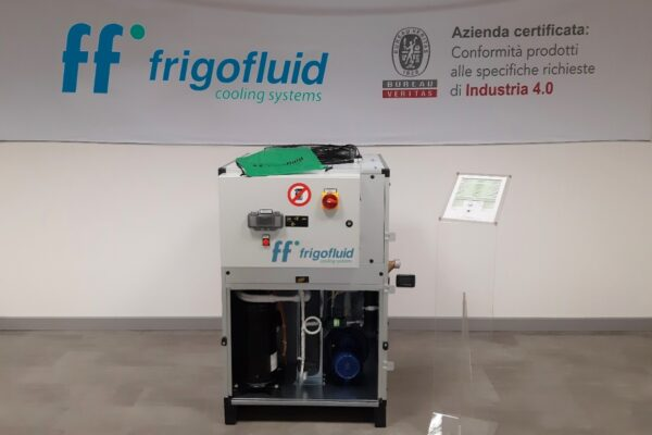 Industry 4.0 certified Frigofluid chillers for plastic processing